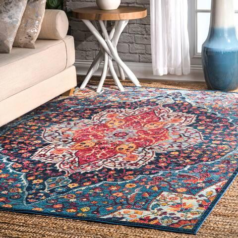 nuLOOM Vintage Chic Blossom Tiles Area Rug