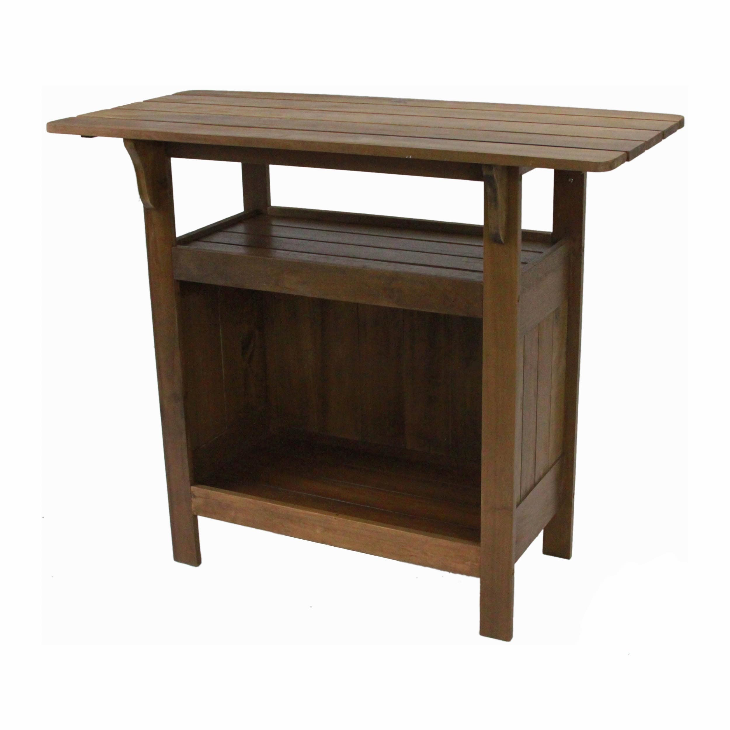Shop International Caravan Highland Outdoor Bar Table   On Sale   Free  Shipping Today   Overstock   2031025