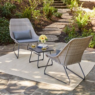 Hanover 3-Piece Wicker Chat Set