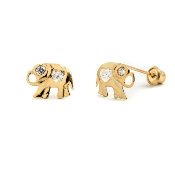 Pori jewelers 14k solid gold elephant wcz stud earrings free pori jewelers 14k solid gold elephant wcz stud earrings freerunsca Images