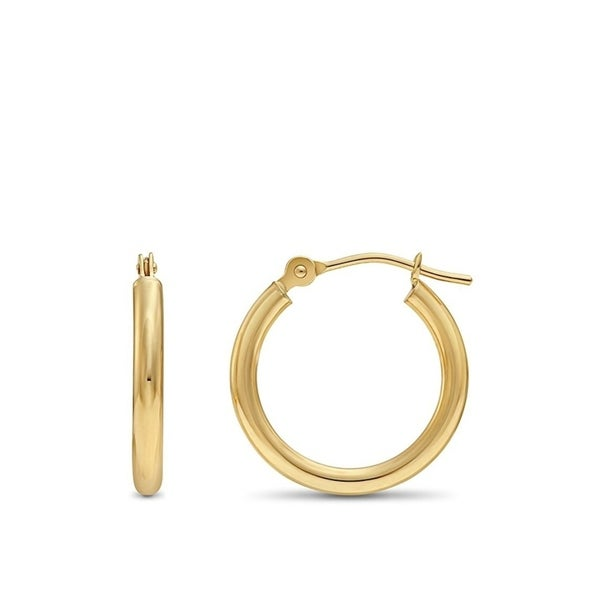Pori Jewelers 14k Solid Gold Hoop Earrings
