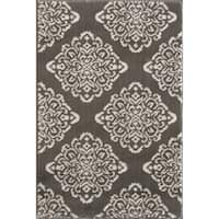 VCNY Home Botanical Medallion Area Rug - grey