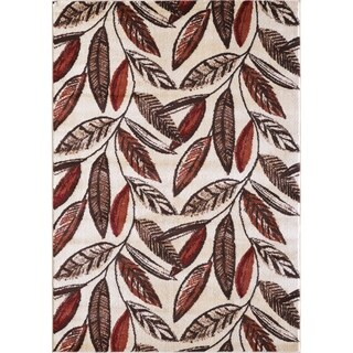 VCNY Home Leaf Area Rug - Red