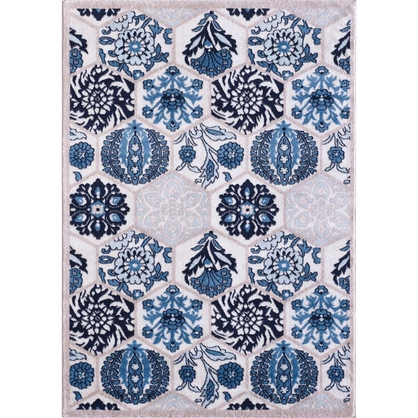 VCNY Home Framed Floral Area Rug - 2' x 3'