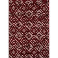 VCNY Home Medallion Dot Area Rug - Red