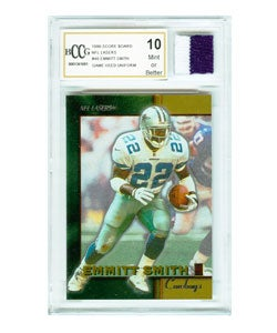 Emmitt Smith Game Used Jersey and Mint Card