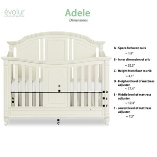 Evolur Adele 5 in 1 Convertible Crib