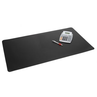 "12"" x 17"" Rhinolin II Ultra-Smooth Writing Pad Desk Mat with Exclusive Microban® Antimicrobial Protection, Black"