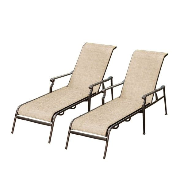 Shop Havenside Home Waveland Beige Outdoor Lounge Chairs