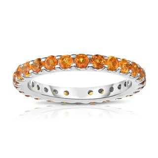 Noray Designs 14K White Gold Citrine Eternity Ring 1 35 Cttw Yellow