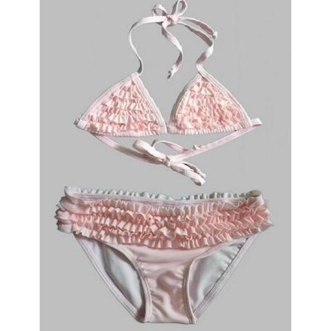 Girls' 2 Piece Ruffle Swimsuit