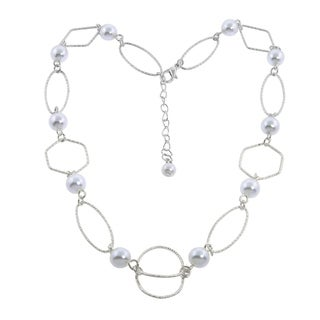 Eternally Haute Pearly Open Link Necklace