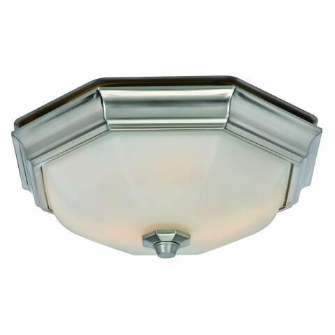Huntley Decorative Bath Fan with Light LED Bulbs Included