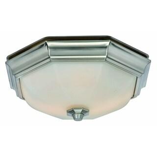 Huntley Decorative Bath Fan with Light LED Bulbs Included - N/A
