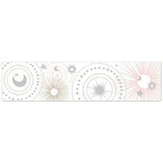 Sweet Jojo Designs Wall Paper Border for the Pink and Gold Celestial Collection