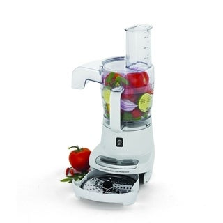 Wolfgang Puck 4-Cup Continuous-Flow Food Processor with Overload Protection