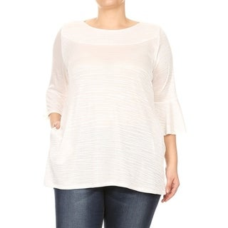 Women's Plus Size Solid Striped Knit Tunic Top (More options available)