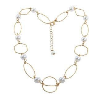 Eternally Haute Gold Pearly Open Link Necklace