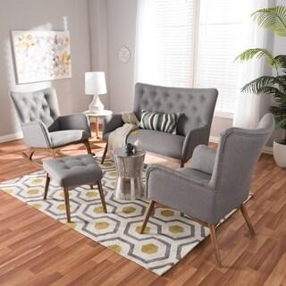 Mid-Century 4-Piece Livingroom Set by Baxton Studio