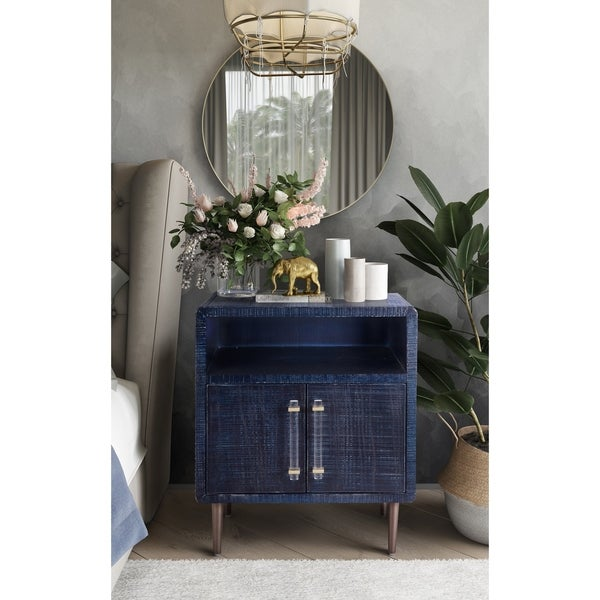 Shop Marco Lacquer Indigo Side Table - Free Shipping Today ...