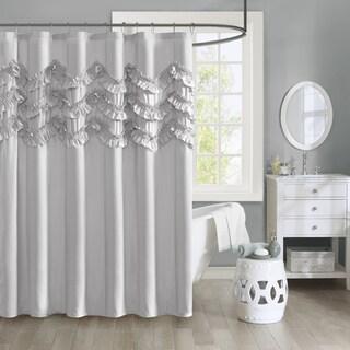 Intelligent Design Carmen Ruffle Shower Curtain (in Grey) (As Is Item)