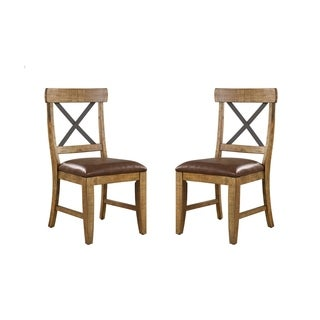 Emerald Home Chandler dark walnut finish dining chair D100-20-2PK-K (Set of 2)