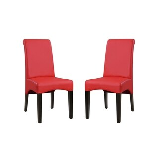 Emerald Home Briar II Traditional Red Upholstered Dining Chair (Set Of 2)