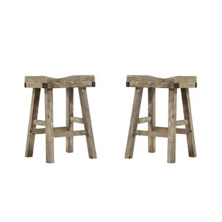 "Emerald Home Valencia reclaimed pine 25"" bar stool D559-26-2PK-K (Set of 2)"