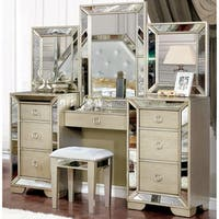 Furniture of America Maxine Modern 3-piece Silver Vanity Set - N/A