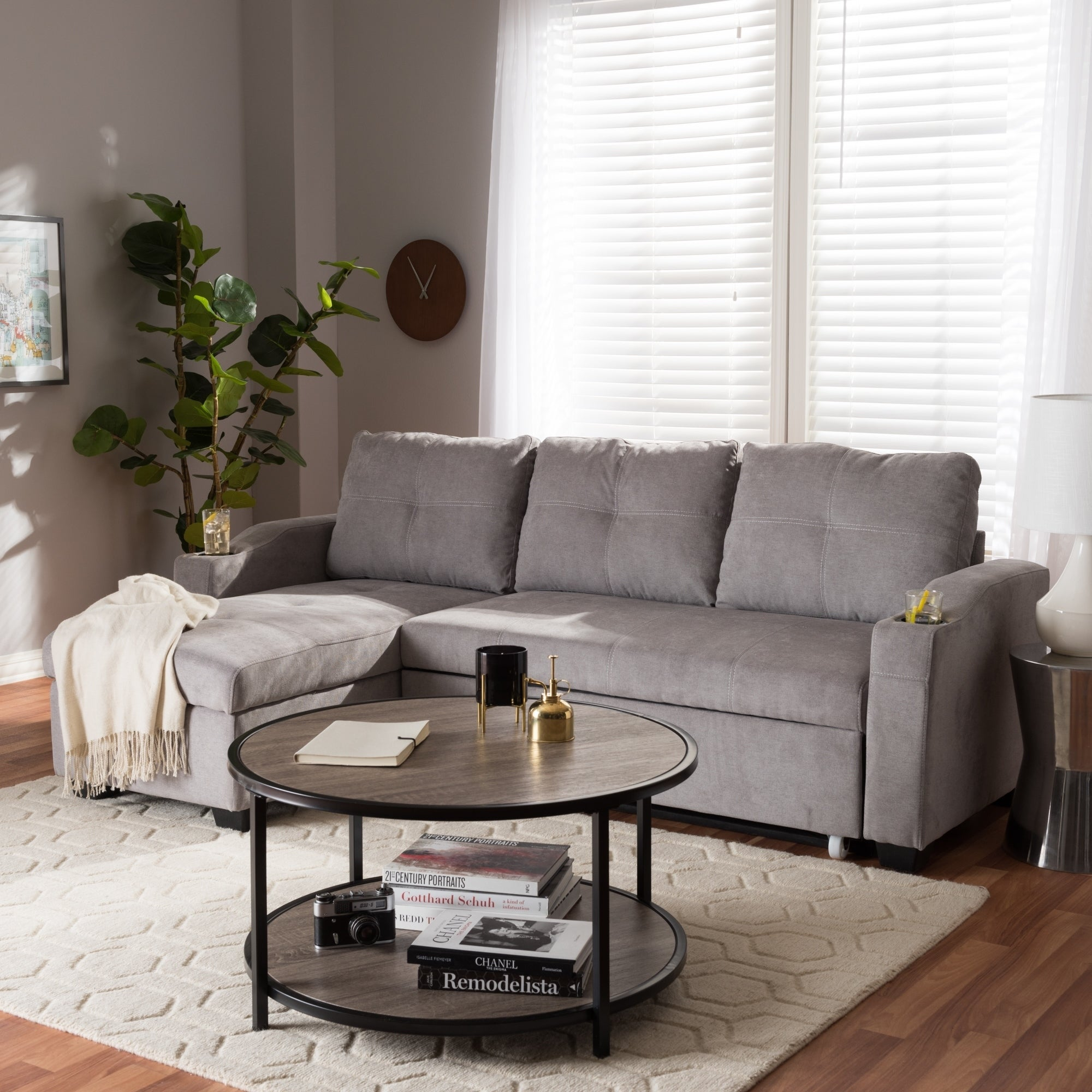 Contemporary Reversible Sectional Sofa By Baxton Studio