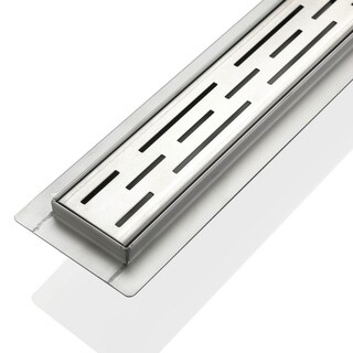 """Kube 27.5"""" Linear Drain with Linear Grate"""