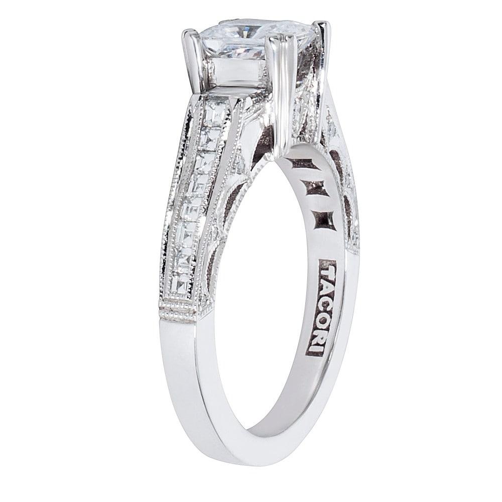 Shop Tacori 3 Stone Engagement Ring Setting In Platinum 3 4 Ctw