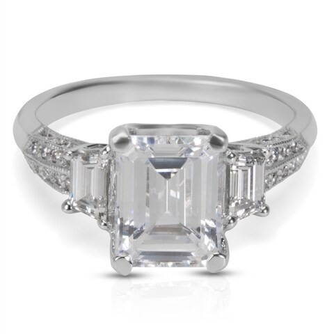Tacori Engagement Ring Setting in Platinum 2579 EM 8.5X6.5 (0.58 CTW)