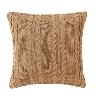 VCNY Home Solid Dublin Cable Knit Euro Sham