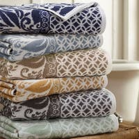Amrapur Overseas Trefoil Filigree 6 Piece Yarn Dyed Jacquard Towel Set