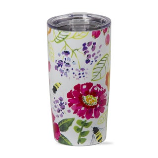 TAG Fresh Flowers Stainless Steel Tumbler