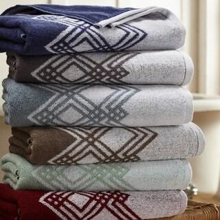 Amrapur Overseas Popcorn Diamond 6 Piece Yarn Dyed Jacquard Towel Set