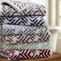 Amrapur Overseas Ikat Diamond 6 Piece Yarn Dyed Jacquard Towel Set