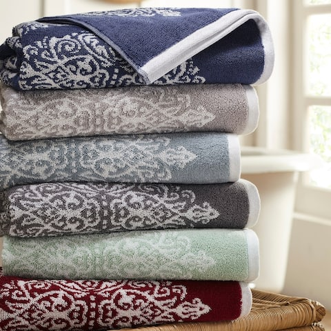 Modern Threads Artesia Damask 6 Piece Yarn Dyed Jacquard Towel Set