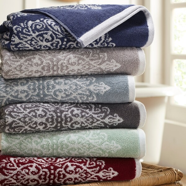 Amrapur Overseas Artesia Damask 6 Piece Yarn Dyed Jacquard Towel Set