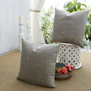 Patina Vie Ombre Affair Sunbrella Pillow Set of 2 in Textured Grey and Beige