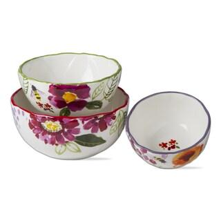 TAG Fresh Flowers Bowl Set Of 3