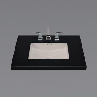 "Link to 19"" Plane Rectangular Ceramic Undermount Bathroom Sink in Cool Gray Similar Items in Sinks"