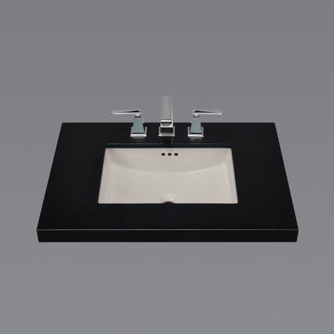 "19"" Plane Rectangular Ceramic Undermount Bathroom Sink in Cool Gray"