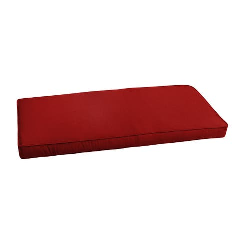 "Sunbrella Jockey Red Indoor/ Outdoor Bench Cushion 37"" to 48"""