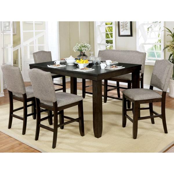 Pleasing Shop Davenport Transitional 6 Piece Dark Walnut Dining Table Creativecarmelina Interior Chair Design Creativecarmelinacom