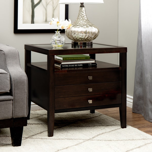 Brown Contemporary Aristo Halifax Side Table