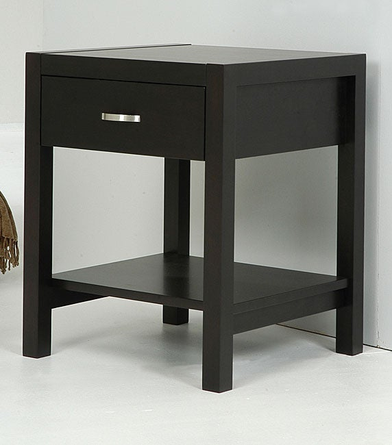 Axium Espresso 1-drawer Nightstand
