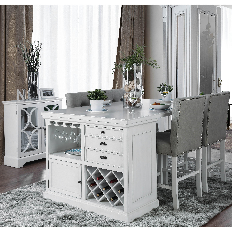 Transitional White 5 Piece Kitchen