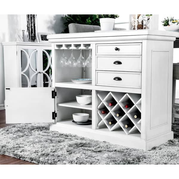 Shop Tia Modern Antique White Counter Height Kitchen Island ...